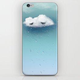 crying cloud iPhone Skin