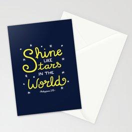 Shine Like Stars Stationery Cards