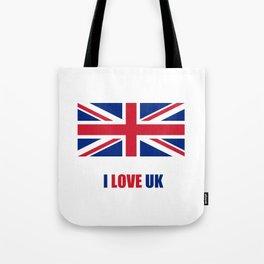 Flag of UK 8- London,united kingdom,england,english,british,great britain,Glasgow,scotland,wales Tote Bag