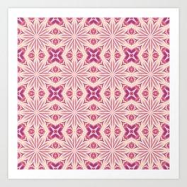 Millennial Pink Mauve Flower Cross Art Print