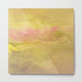 Painted Mustard Marble Metal Print