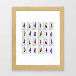 Rainbow Designs Framed Art Print