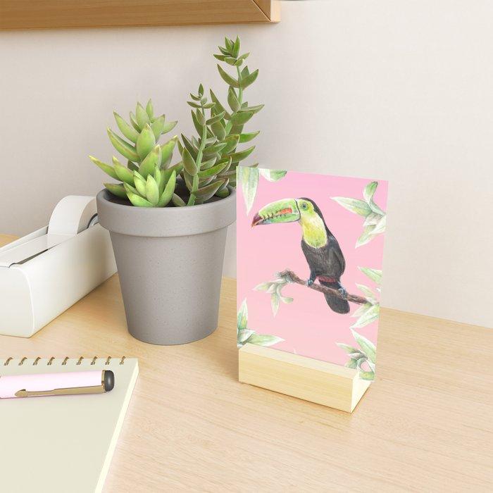Watercolor Jungle Toucan Bird Illustration Mini Art Print
