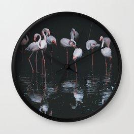flamingos #society6 #decor #buyart Wall Clock
