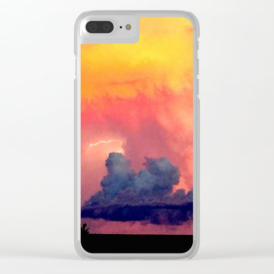 Lightning over Madison Clear iPhone Case