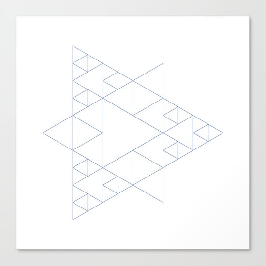 #377 Triangular architecture – Geometry Daily Canvas Print
