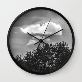 Silver Cloud Wall Clock