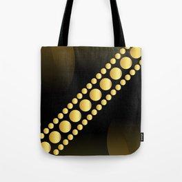Golden dotes on black background #society6 #decor #buyart #artprint Tote Bag