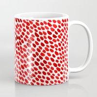 pomegranate Mugs featuring Pomegranate by Hye Jin Chung
