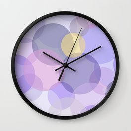 Lavender Color Pattern Wall Clock