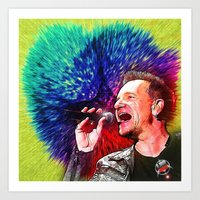 u2 Art Prints featuring U2 / Bono 3 by JR van Kampen