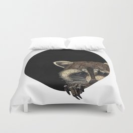 Socially Anxious Raccoon Duvet Cover