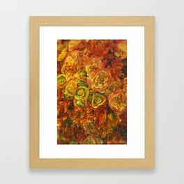Holiday Flowers Framed Art Print
