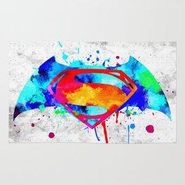 Bat Man Superman Rug