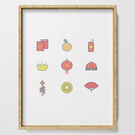 Happy National Chinese New Year Serving Tray