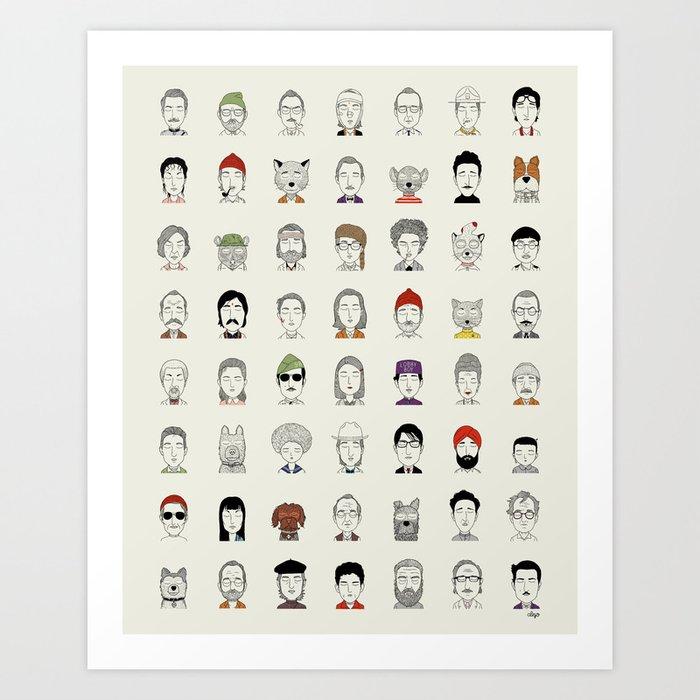 Random People Art Print