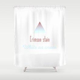 Crimson Stain Shower Curtain