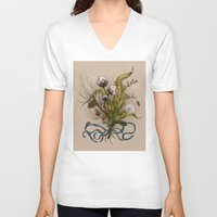 north carolina V-neck T-shirts featuring North Carolina Memories by Jessica Roux