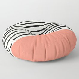 Coral x Stripes Floor Pillow