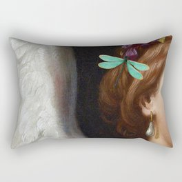 Angel With A Pearl Earring Rectangular Pillow