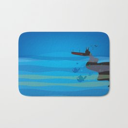 go humans! Bath Mat