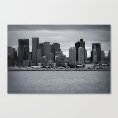 City and Airfield Canvas Print