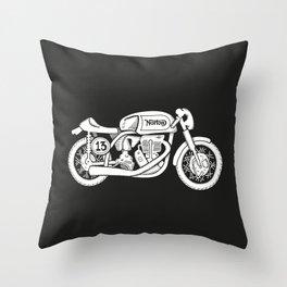 Norton Model 30 - Cafe Racer series #2 Throw Pillow
