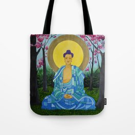Meditation in bloom Tote Bag