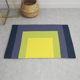 Block Colors - Yellow Green Violet Rug