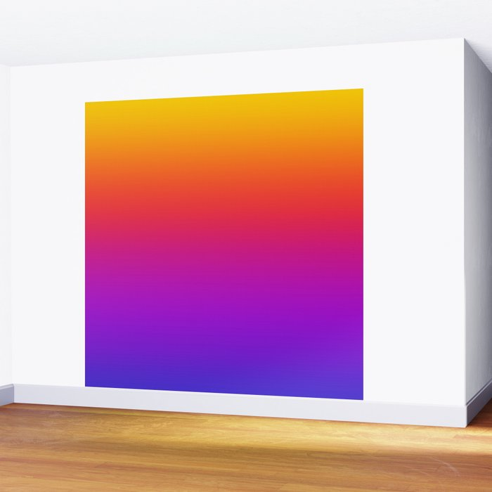 Colorful Gradient Pattern Neon Abstract Rainbow Wall Mural