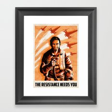The Resistance Needs You Framed Art Print