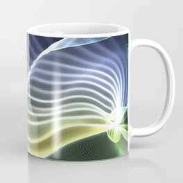 Crinkled Silk Ribbons (yellow - white - green)  Coffee Mug