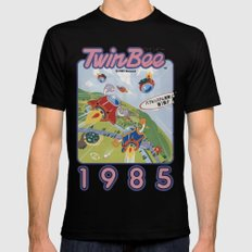 TwinBee Mens Fitted Tee Black SMALL