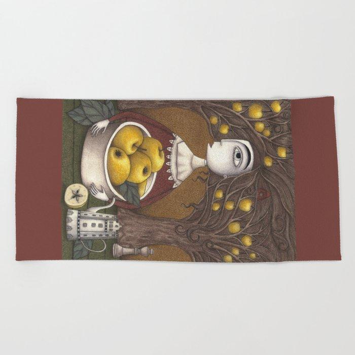 Portrait of an Apple Orchard Beach Towel