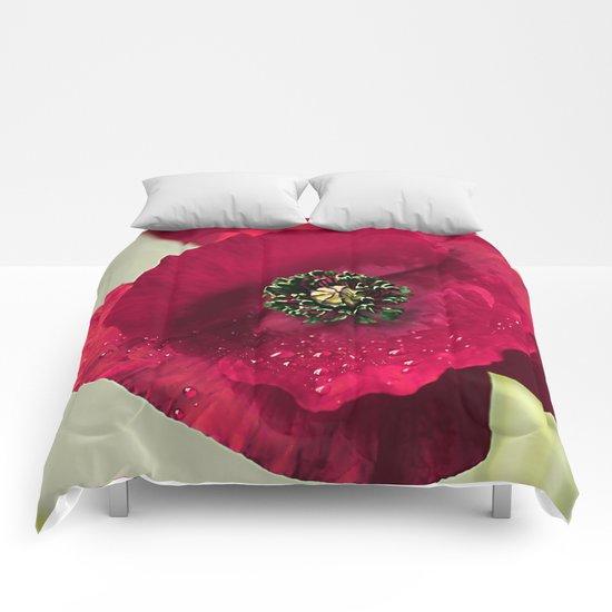 Poppies(velvet). Comforters