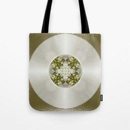 Vinyl Record Illusion in Sepia Tote Bag