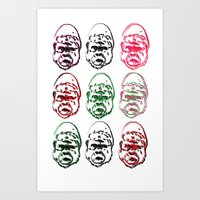 picasso Art Prints featuring Picasso  by Dr. Idol. Clothing