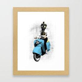 Vespa Man Framed Art Print