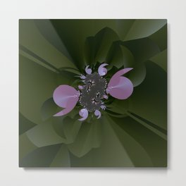 A plastic shiny bloom of a fractal plant Metal Print