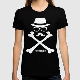I Am Dayton - Hipster Jolly Roger - White T-shirt