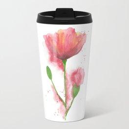 Pink Poppy Travel Mug