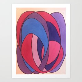 blue ink Art Print