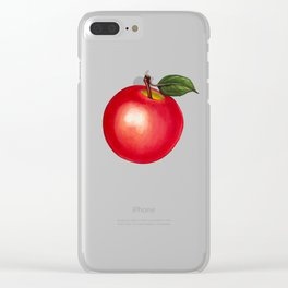 Apple Pattern - Ruled Clear iPhone Case