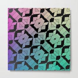 Geometric Tribal Metal Print