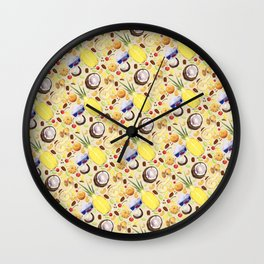 Light Background Pattern Wall Clock