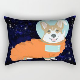 Corgi spacedog astronaut outer space red corgis dog portrait gifts Rectangular Pillow