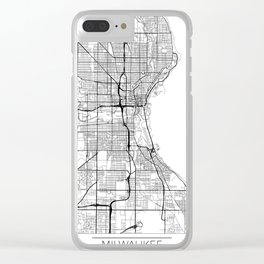Milwaukee Map White Clear iPhone Case