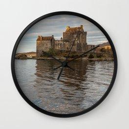 Eilean Donan Castle, Dornie, Kyle of Lochalsh, The Highlands, Scotland Wall Clock