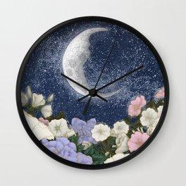 Moonlight in the Garden Colour Version Wall Clock