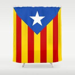 Estelada Blava - Senyeraestelada, HQ Banner version Shower Curtain